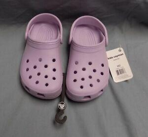 Brand New Lavender Purple Kids Cayman Crocs Shoes NWT Size M2 / W4