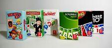 Hasbro Reisespiele 6er Set Monopoly, Twister, Uno, Scrabble, Phase 10