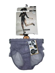 M&S Two Pack Tights Small And Size 10 Knickers