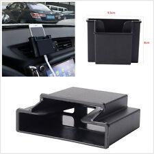 Double Deck Black Autos Interior Air Vent Outlet Storage Mobile Phone Box Holder