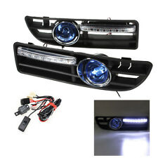 For VW Jetta Bora Mk4 99-04 LED Fog Light Bumper Grille Grill DRL Switch Harness