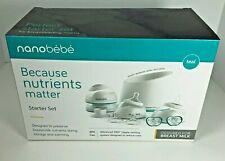 Nanobebe Baby Bottle Newborn Feeding Starter Set - New Sealed - Teal
