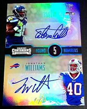 (#1/1) Rc Auto Jonathan Williams Alex Collins Contenders Rookie Signed Autograph