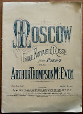 More details for moscow grande fantasie russe for piano by arthur thompson mcevoy – pub. 1924