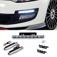 Daywhite 1pcs 8LED 12V Daytime Running Light DRL Car Fog Day Driving Lamp