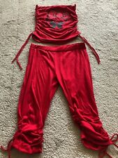 New women Red two pieces set,SMALL/MEDIUM/LARGE