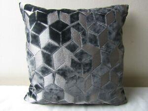 Designers Guild Fabric Fitzrovia Graphite Cushion Covers