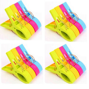 12x 8x Kunststoff Wäscheklammern Strandtuch Quilt Clips Wäsche Badetuch Handtuch