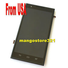 New LCD Display Touch Screen Digitizer With Frame For ZTE Z970 ZMAX Black USA