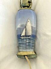 Beautiful Royal Copenhagen small desk lamp, sailboat