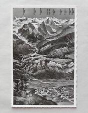 c1965/ 60s B/W Postcard. Switzerland. Alps/ Mountains/ Valley. Jungfrau/ Grimsel