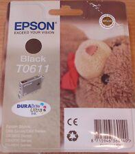 GENUINE EPSON T0611 TO611 Cartouche noire étanche Original Teddy Bear OEM Encre