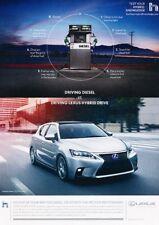 2014 Lexus CT200h Hybrid - Original Advertisement Print Art Car Ad J895