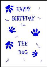 Novità Buon Compleanno Biglietto D'Auguri dal cane - 7B-Own Design