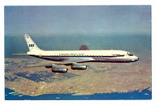 1960s SAS Scandinavian Airlines Issued Douglas DC-8C Postcard