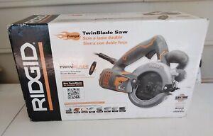 Brand New ~ RIDGID Fuego Twin Blade Circular Corded Saw ~ Model R3250  MG