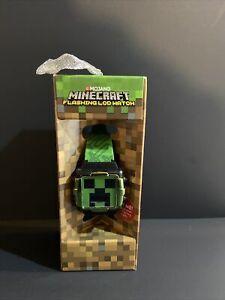Minecraft Flashing Kids Watch Green Mojang New In Box