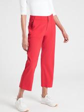NEW ATHLETA Tribeca Utility Crop 8 (M MEDIUM) Hibiscus Red | Summer Pants Travel