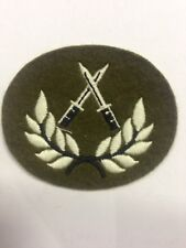 BRITISH ARMY CROSSED DAGGER IN WREATH PARA COMMANDO BAYONETS BADGE PATCH