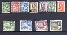 SOMALILAND SG 125-35 1951 GVI NEW CURRENCY DEFINS. MNH