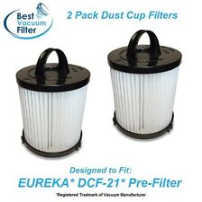 2 Pack Upright Vacuum Dust Cup Pre-Filters for EUREKA DCF21  fits 68931A 68931