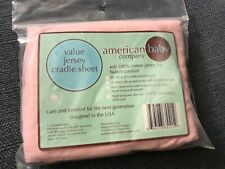 New 100% Cotton Jersey Pink Fitted Cradle Sheet 18 - 36� Usa made