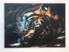 Framed Tiger Laminated on Wood Home Decor Modern Look