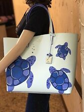 NWT $349 Kate Spade Authentic Leather Under The Sea Len Turtle Tote Bag