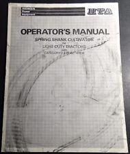 HONDA SPRING SHANK CULTIVATOR LIGHT DUTY TRACTORS OPERATORS MANUAL (615)