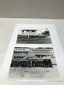 2 VINTAGE ORIGINAL 1960'S ACE WILSON'S ROYAL PONTIAC BLACK & WHITE PHOTO 8 X 10