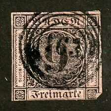 Baden stamp #4a, used, Zell, i.w. cancel,1st Printing,thin paper, 1851, SCV $180