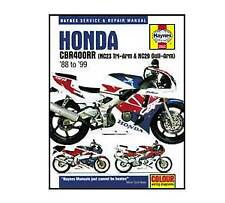 Honda CBR400RR NC29 NC23 Haynes Workshop Service Manual