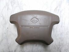 OEM 2000 Nissan Pathfinder Driver's Side Steering Wheel Airbag Assembly SRS Tan