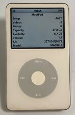 New ListingApple iPod 5th Gen. w/ Video - 30Gb White (A1136)  - 4,000+ Songs!      Mv2557
