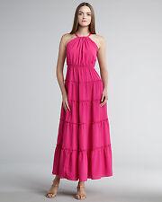 T-Bags Los Angeles Halter Maxi Dress in Fuschia