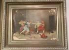 Antikes Gemälde mit Fechtern, Musketieren, Meissonier, 1901 Selten!