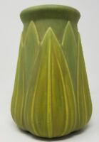 Roseville VELMOSS 136-10 vase MINT Palm Leaf Motif