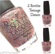 OPI 2 Btls Teenage Dream Pink Nail Polish NL K07 NEW Katy Perry Collection Holo