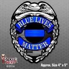 Police badge Thin Blue Line Sticker FS294 USA Bumper Vinyl Decal Lives Matter