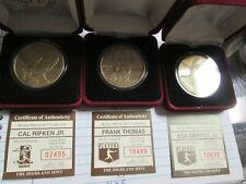 Ken Griffey jr,  cal ripken, frank thomas ,Highland Mint Bronze  Coins