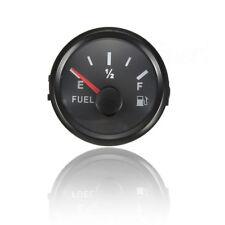 Black 52mm Electrical Chrome Rim Fuel Level Gauge (240-33 ohms) Waterproof IP67