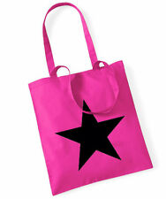 BLACK Star cotton bag sacchetto stoffa rosa