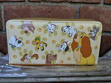 Disney Japan Dogs Wallet Bell Maison Dalmatian Pluto Lady & Tramp Brand New
