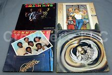 Lot of 4 Vintage Records: Full Force Jimi Hendrix Isaac Hayes & the Commodores
