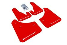 Rally Armor Mud Flaps Guards for 04-09 Mazda3 Mazdaspeed 3 (Red w/White Logo)