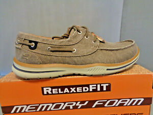 Skechers Men's Elected Horizion Boat Shoes NIB! New! Beige Sizes! Think Boat :)