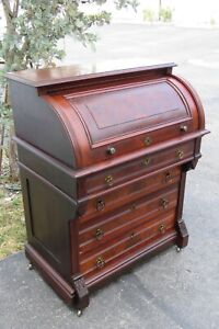 17349 Victorian Custom Carved Slant Top Desk