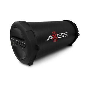 Axess SPBT1041 Portable Bluetooth Speaker - Red