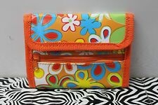 FLOWER POWER WALLET Retro Groovy Mod 1960s Bifold Hippie Girls Women Teens NEW