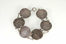 Silver Coin Bracelet  Peru  Coins Estate Jewelry Chunky Unique Jewelry